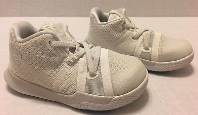 b3aba9b0029a Nike Kyrie 3 (TD) (869984-101) White Athletic Shoes Toddler Size