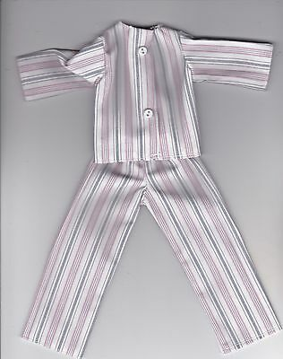 Doll Clothes-Pretty Green and White Print Pajamas that fit Barbie-Homemade BP2