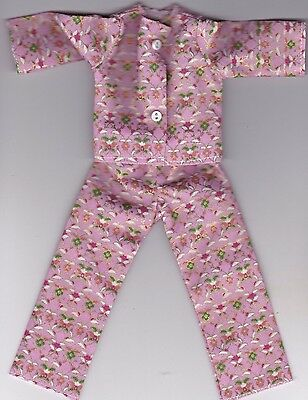 Doll Clothes-Red//White//Blue Striped Print Pajamas fit Barbie-Homemade BP3