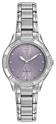 Citizen Eco-Drive Women's Diamond Accents Purple Dial 30mm Watch EM0450-53X