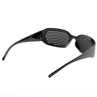 Sunglasses Black Pinhole Glasses Eyesight Improve Vision Care Eye Exercise