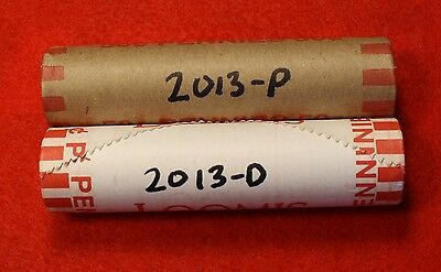 2013-P&d Lincoln Union Shield Cent Penny 2-50 Coin Rolls Red Bu Collector Gift