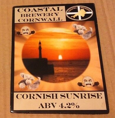 Beer pump clip badge front COASTAL brewery CORNISH SUNRISE cask ale