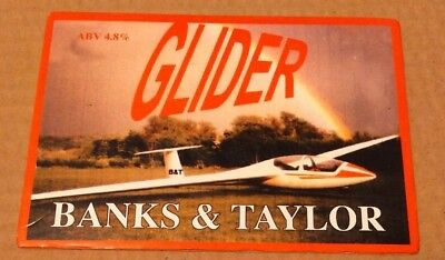 BANKS & TAYLOR brewery GLIDER beer badge cask ale pump clip front