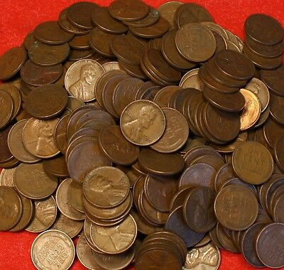 1940-Pd Thru 1958-Pd Lincoln Wheat Cent Penny 50 Coin Roll G-Xf Collector Coins