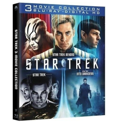 Brand New-Sealed  Star Trek ~ 3 Movie Collection (Blu-ray, Digital HD)