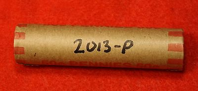 2013-P Lincoln Union Shield Cent Penny 50 Coin Roll Red Bu Collector Gift