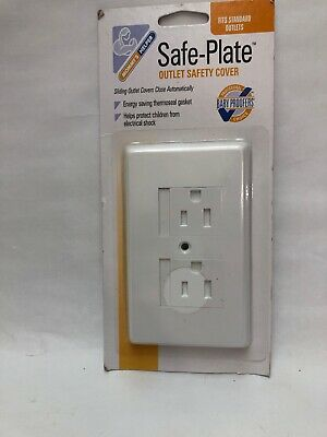 Mommy's Helper Safe Plate Electrical Outlet Cover Standard White Outlet Safety 1