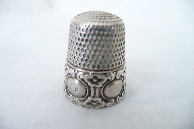 Vintage Sterling Silver Thimble No. 12 : Cartouche Design To Engrave