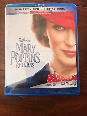 Mary Poppins Returns, 2019 (Blu-Ray, Slipcover And Case)