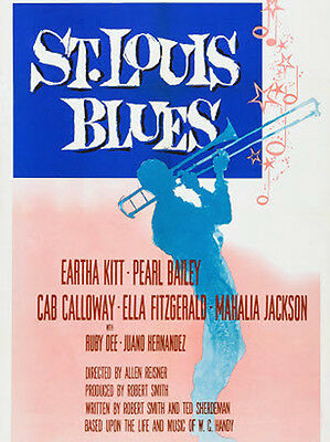 """""""The ST. LOUIS BLUES"""" made in 1958 staring Nat King Cole & Eartha Kitt 0n DVD"""