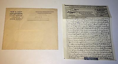 Vintage WWII V-Mail Cpl. D. Gaynor 360th Bomb Squadron Mechanic Oct 17, 1943! US