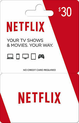 Netflix Gift Card $30 Value   50% DISCOUNT  US & Worldwide - Email