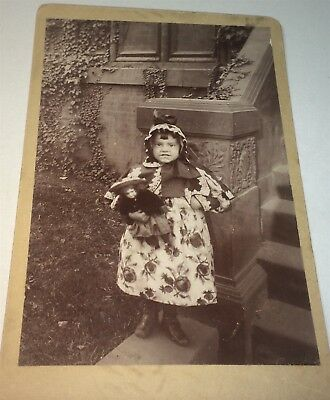 Rare Antique Beautiful Victorian American Fashion Girl, Toy Doll Cabinet Photo!