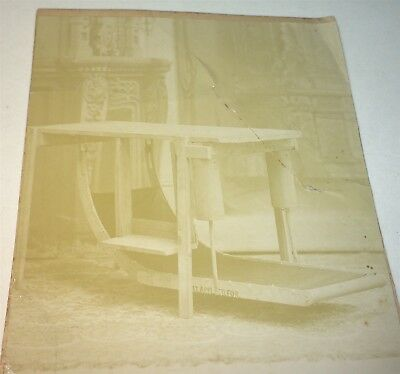 Rare Antique Victorian American Occupational Work Table Patent Cabinet Photo! PA