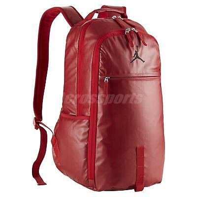 f9ad9922cfd4 Nike Air Jordan Jumpman Red Black Multiple Pockets Backpack BP Bag  BA8051-687