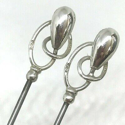 Antique Hat Pin Stylish Sterling Pair. Ch. Horner-Master Designer. Collectible!