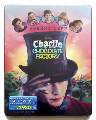 CHARLIE AND THE CHOCOLATE FACTORY Blu-ray Steelbook MINT - Rare Japan Release