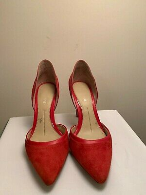 7138e5fd0c84 NIB GIANNI BINI Red Patent Leather Pointed Toe Croc Accent Mary Jane ...