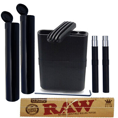 On the Go Bundle: Raw King rolling papers, Tubes & Pocket Size Dugout