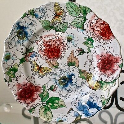 Designer's Choice By Coventry Harper Salad Round Plate Floral 8In Porcelain New