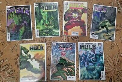 The Immortal Hulk #1, 2, 3, 4, 5, 6, 7 LOT 1ST PRINT Alex Ross Covers NM Run HOT