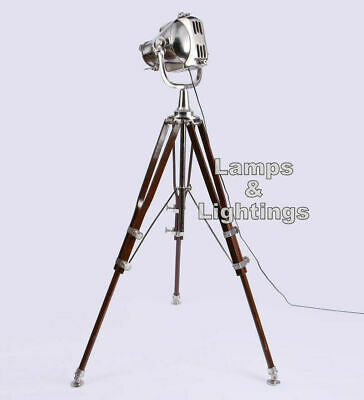 Pewter finish antique tripod lamp portable office lighting - DDY6