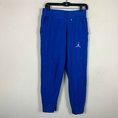 dcda83f6280e9b Nike Air Jordan Sweatpants Blue Jumpman Jogger Men s Size M Inseam 27