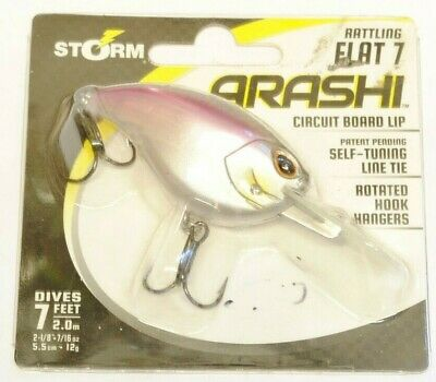 w// Circuit Board Lip 2 Color Set Storm Arashi Shad Rattling Flat 7 NEW!
