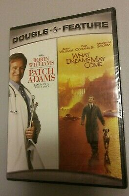 PATCH ADAMS/WHAT DREAMS MAY COME (DVD, 2007, 2-Disc Set) NEW ROBIN WILLIAMS