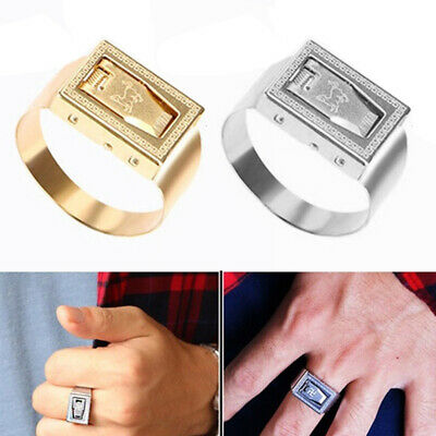 Useful Multifunctional Women Self-defense Finger Ring Metal Mini Blade Braw