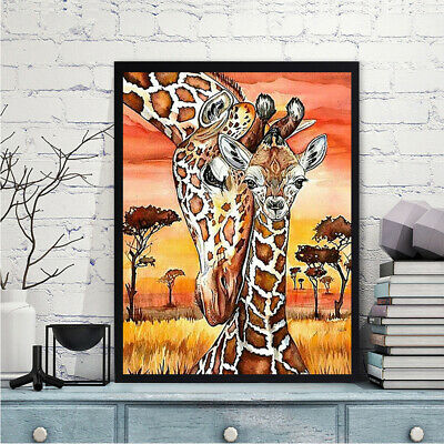 5D Full Diamond Painting Giraffe DIY Embroidery Cross Stitch Wall Decor Gif Braw