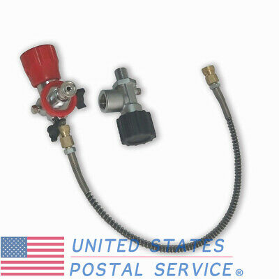 4500psi Diving PCP Valve&Fill Station&Hose Adapter Kit for Paintball Air Tank US