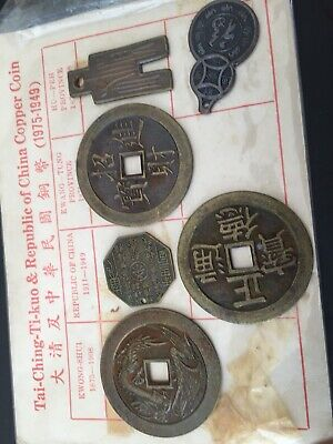 Republic Of China Copper Coins X 6 1949 To 1975