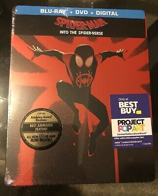 Spider-Man: Into the Spider-Verse Steelbook (Blu-ray/DVD/Digital HD) New in Hand