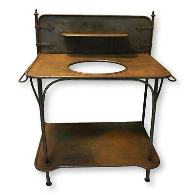 Antique French Farmhouse Iron Wash Stand