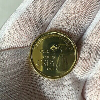 2012 $1 Grey Cup Commemorative Loonie BU Uncirculated from Canada Mint roll!