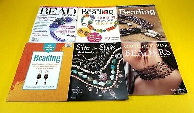 Lot of 6 Bead & Jewelry Making Books