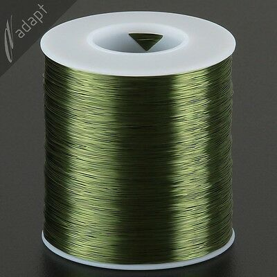 Magnet Wire, Enameled Copper, Green, 30 AWG (gauge), 155C, ~1 lb, 3200 ft