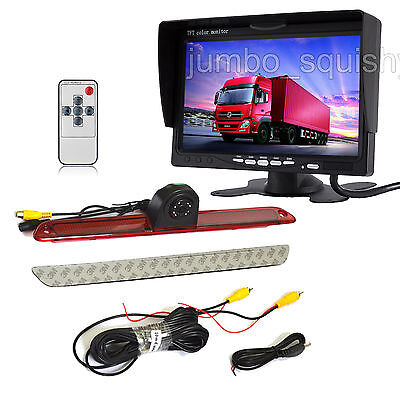 "7"" Rear View Monitor+IR Backup 3rd Brake Light Camera for Mercedes-Benz Sprinter"