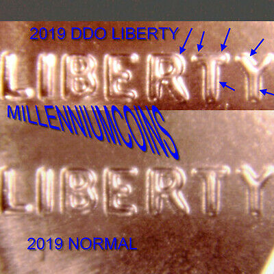 2019 P Shield Penny Error Ddo / Liberty / From Roll