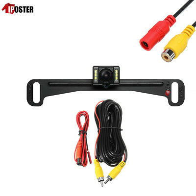 US License Plate Rear View Camera 149° 6 LED Night Vision Waterproof Backup Cam