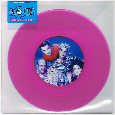 "Aqua Barbie Girl limited edition 45 rpm PINK 7"" single NEW/SEALED"