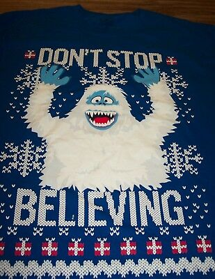 5171f5f773e9d RUDOLPH THE RED-NOSED REINDEER BUMBLE THE ABOMINABLE SNOWMAN T-Shirt LARGE