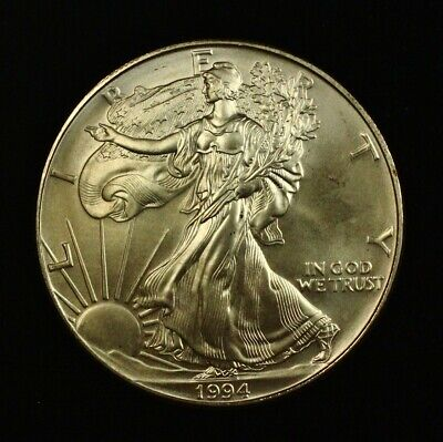 1994 Silver American Eagle 1 oz Better Date Low Mint