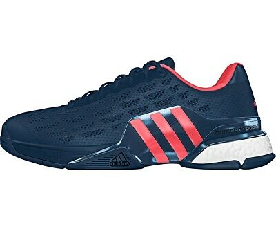**NIB** MEN ADIDAS Barricade 2016 Boost (Navy Pink) Tennis Shoes. Aq2261
