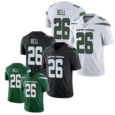 49b0412a2 2019 MEN S NEW York Jets  26 Le Veon Bell Green White Black Jersey ...