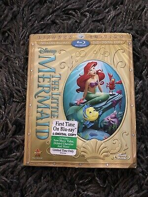 The Little Mermaid (Blu-ray/DVD, 2013, 2-Disc Set, Diamond Edition) NEW DISCS