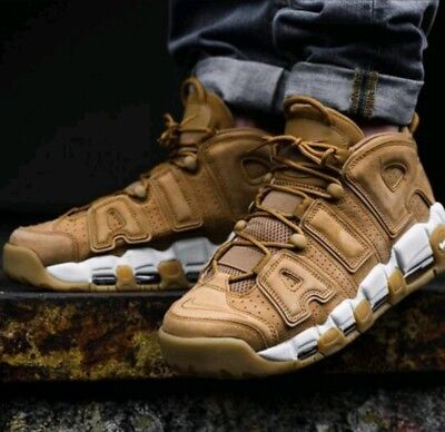 a6555872d3 Size 13 Men's Nike Air More Uptempo 96 Prem Flax Brown Wheat Pippen Aa4060  200