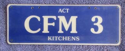 Act Corporate License/number Plate # Cfm 3